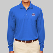 88192P.anpac - Adult Pinnacle Performance Piqué Long-Sleeve Polo with Pocket